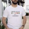I Promise To Teach Love Counselorlife Autism LGBT Shirt
