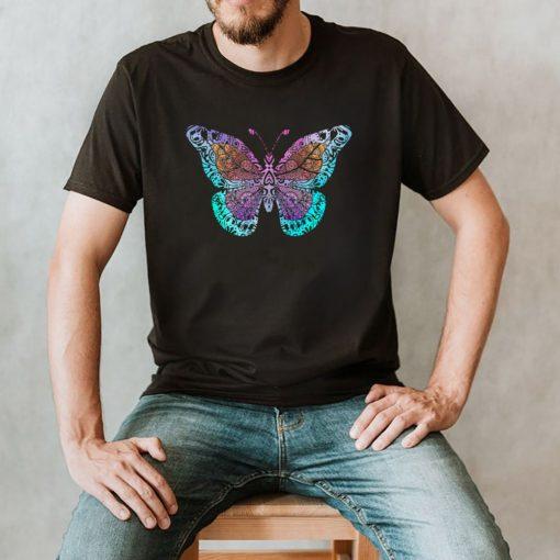 Mandala Butterfly Boho shirt