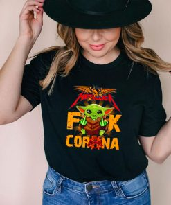 Metallica Baby Yoda fuck corona shirt