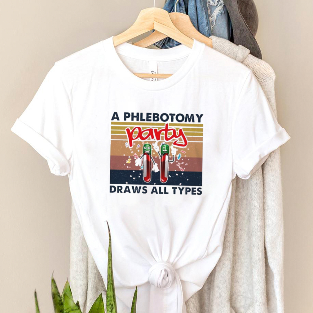 A phlebotomy party draws all types vintage shirt