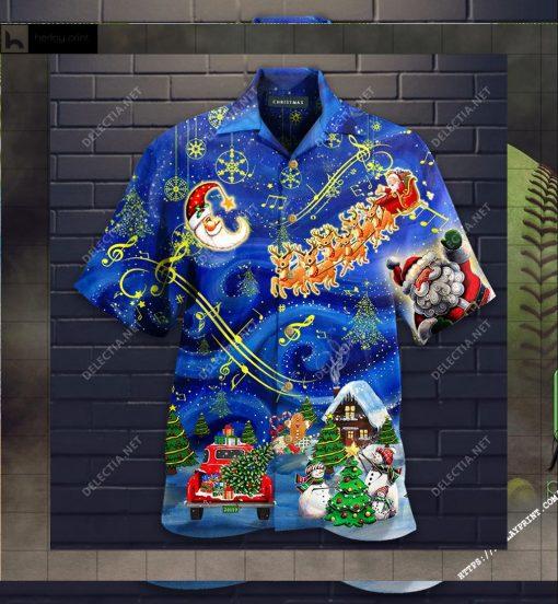 Christmas Sky Unisex Hawaii Shirt