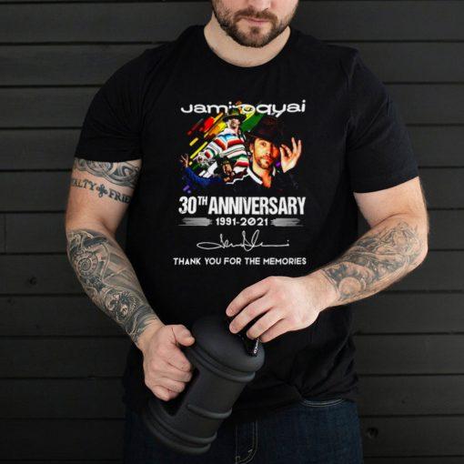 Jamiroquai 30th Anniversary 1991 2021 Thank You For The Memories Signature T shirt