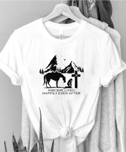 Jesus Horse and she lived happily ever after shirt