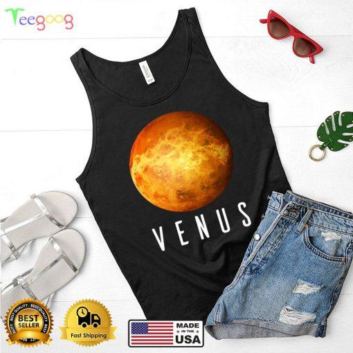 Kids Space Science Solar System Planet Venus T shirt