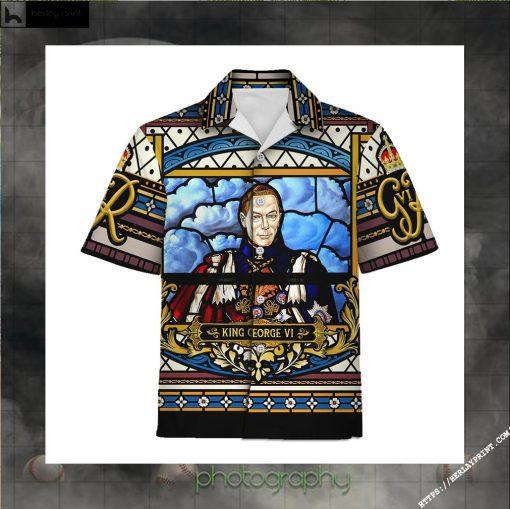 King George VI Coronation Hawaiian Shirt