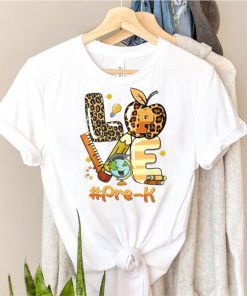 Love Pre K Back To School Apple LeopardLove Pre K Back To School Apple Leopard Shirt Shirt