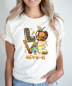 Love Pre K Back To School Apple Leopard Love Pre K Back To School Apple Leopard ShirtShirt
