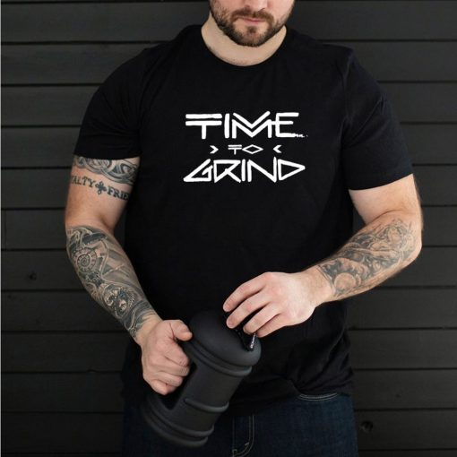 Mens TIME TO GRIND Gym Fitness Workout Motivation G183 shirt