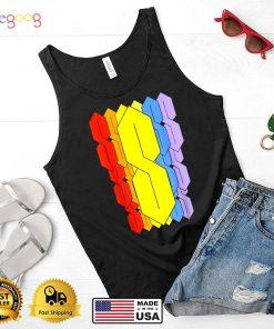 Nostalgic Rainbow Doodle S Shirt