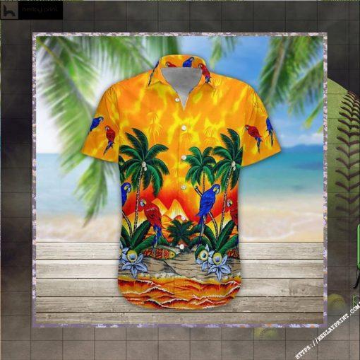 Parrot Hawaiian Shirt Short