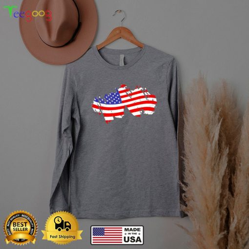 Patriotic US Flag July 4th T Shi