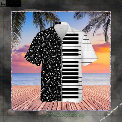 Piano Music Notes Hawaiian Shirt Short
