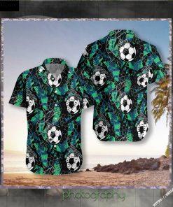 Soccer Grunge Urban Pattern Hawaiian Shirt Short