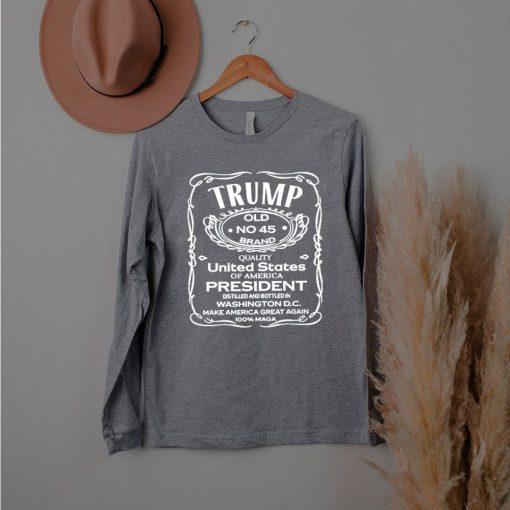 Trump old no 45 brand United States president shirt
