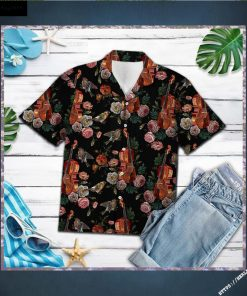Vintage Violin Hawaiian Shirt Short