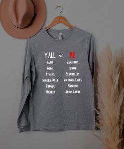 Yall vs Me Name City ShirtYall vs Me Name City Shirt