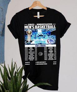 2021 undefeated mens basketball Gonzaga Bulldogs shirt