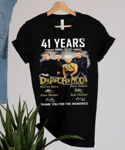 42 Years 1980 2021 Depechemode Martin Signatures Thank You For The Memories T shirt