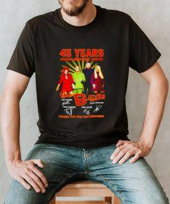45 years 1976 2021 The B52S signatures shirt