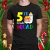 5th Grade Squad Cute Sloth Llama Back To School Fifth Graders Girls Kids Gift T Shirt