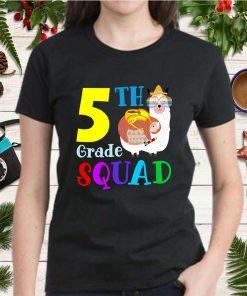 5th Grade Squad Cute Sloth Llama Back To School Fifth Graders Girls Kids Gift T Shirt 2