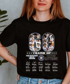 60 Years Of The Greatest MLB Teams Houston Astros Signatures Shirt