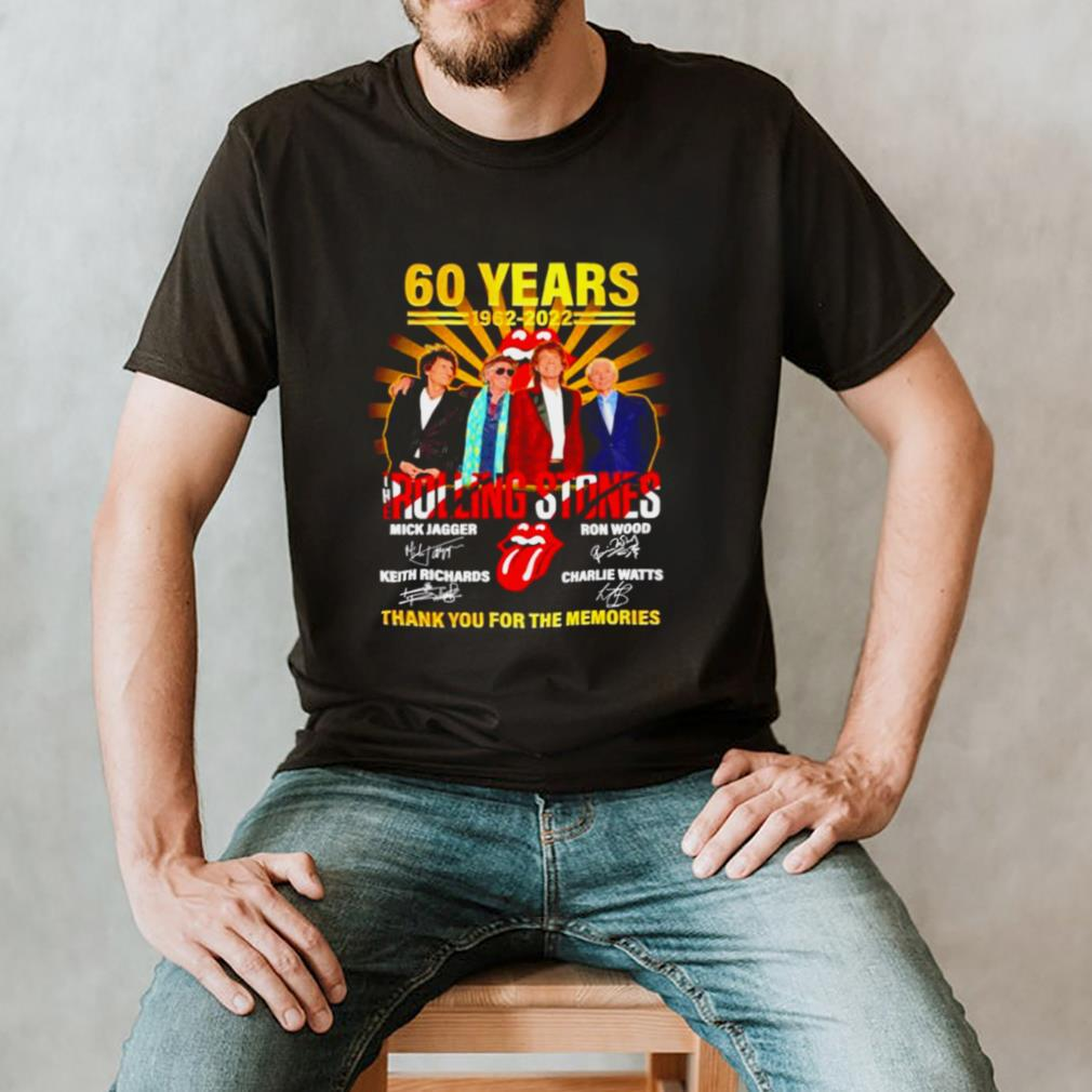 60 years 1962 2022 The Rolling Stones signatures t shirt