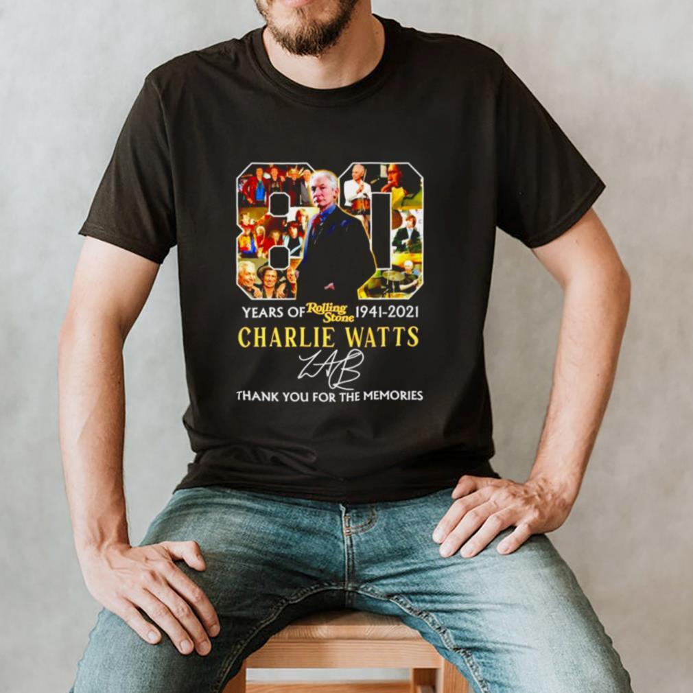 80 years Rolling Stone 1941 2021 Charlie Watts signature shirt