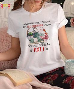 A Woman Cannot Survive On Self Quarantine Alone She Also Needs To Knit