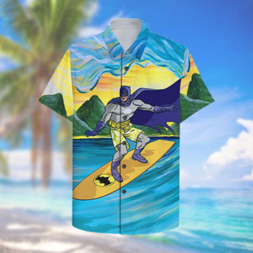 Batman Surfing Hawaiian Shirt Summer Hawaiian Shirt