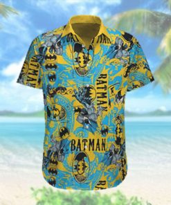 Batman yellow color Hawaiian Shirt Summer Hawaiian Shirt