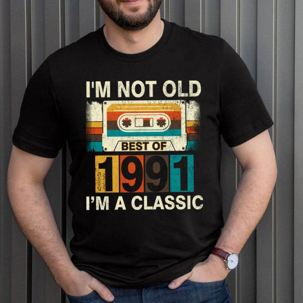 Best Of 1991 30th Birthday Gifts Cassette Tape Vintage T-ShirtTitle