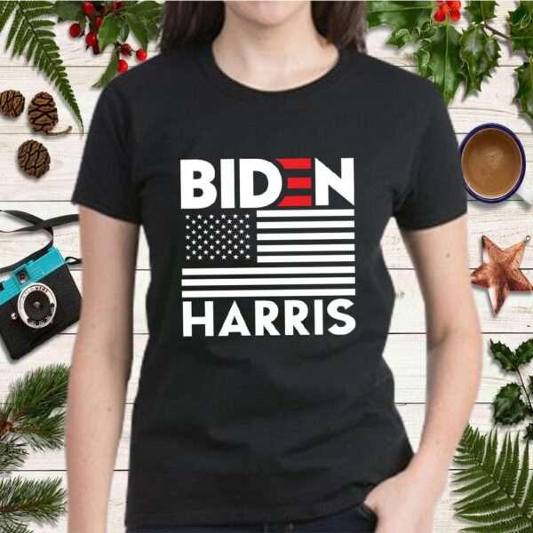 Biden Harris 2020 Election President American Flag Support Political Gift T Shirt 2