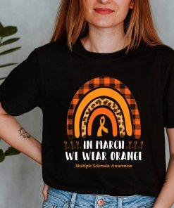 Boho Rainbow In March We Wear Orange Multiple Sclerosis Awareness T-Shirt