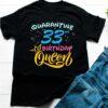 Born in 1987 My 33rd Birthday Queen Quarantine Social Distancing Quarantined Birthday 2020 Tee Shirts 2