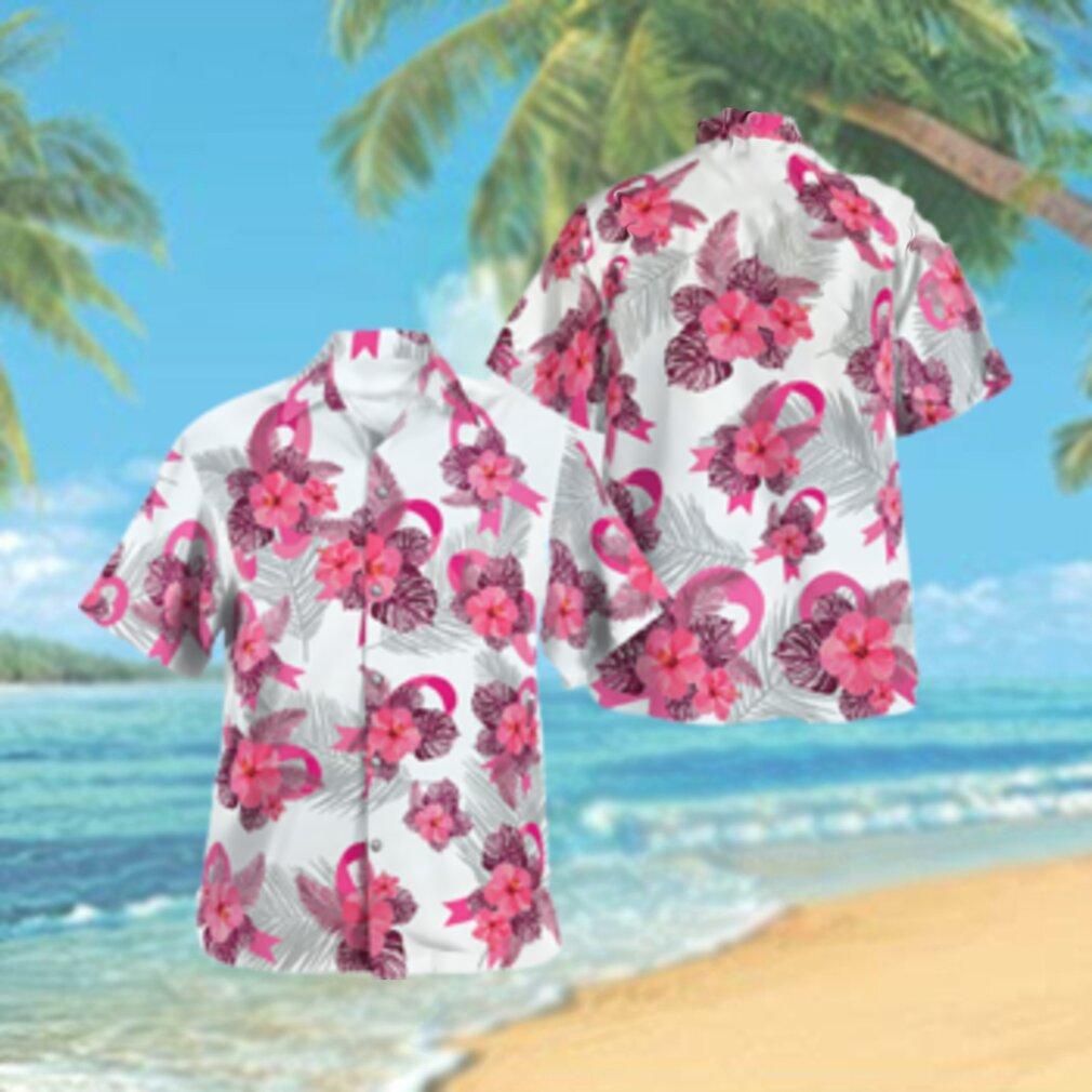 Breast Cancer Awareness Tropical Hawaiian Hawaiian Shirt