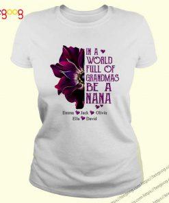 Burgundy Anemone in a world full of Grandmas be a Nana Emma Jack Olivia