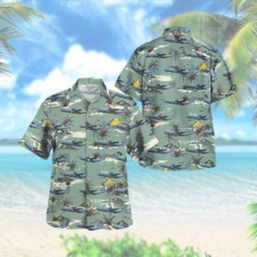C 130J Super Hercules RAAF Lockheed Martin Hawaiian Hawaiian Shirt