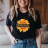 Caregiver love what you do sunflower leopard T-Shirt 3