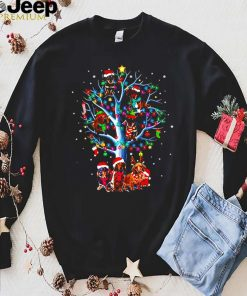 Dachshund on the Christmas tree