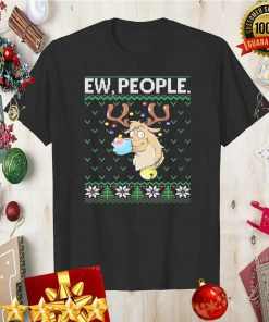 Ew People Rudolph Face Mask Funny Reindeer Ugly Christmas