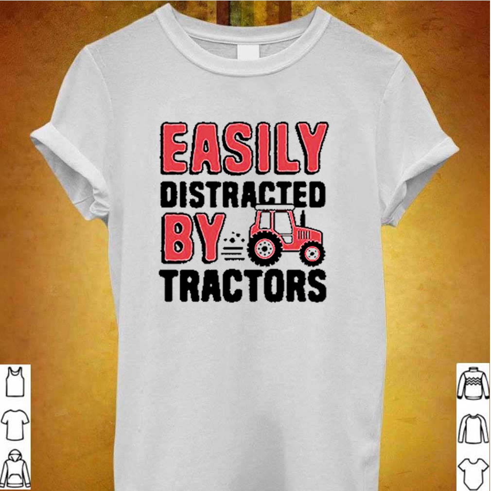 Farmer Easily distracted by tractors