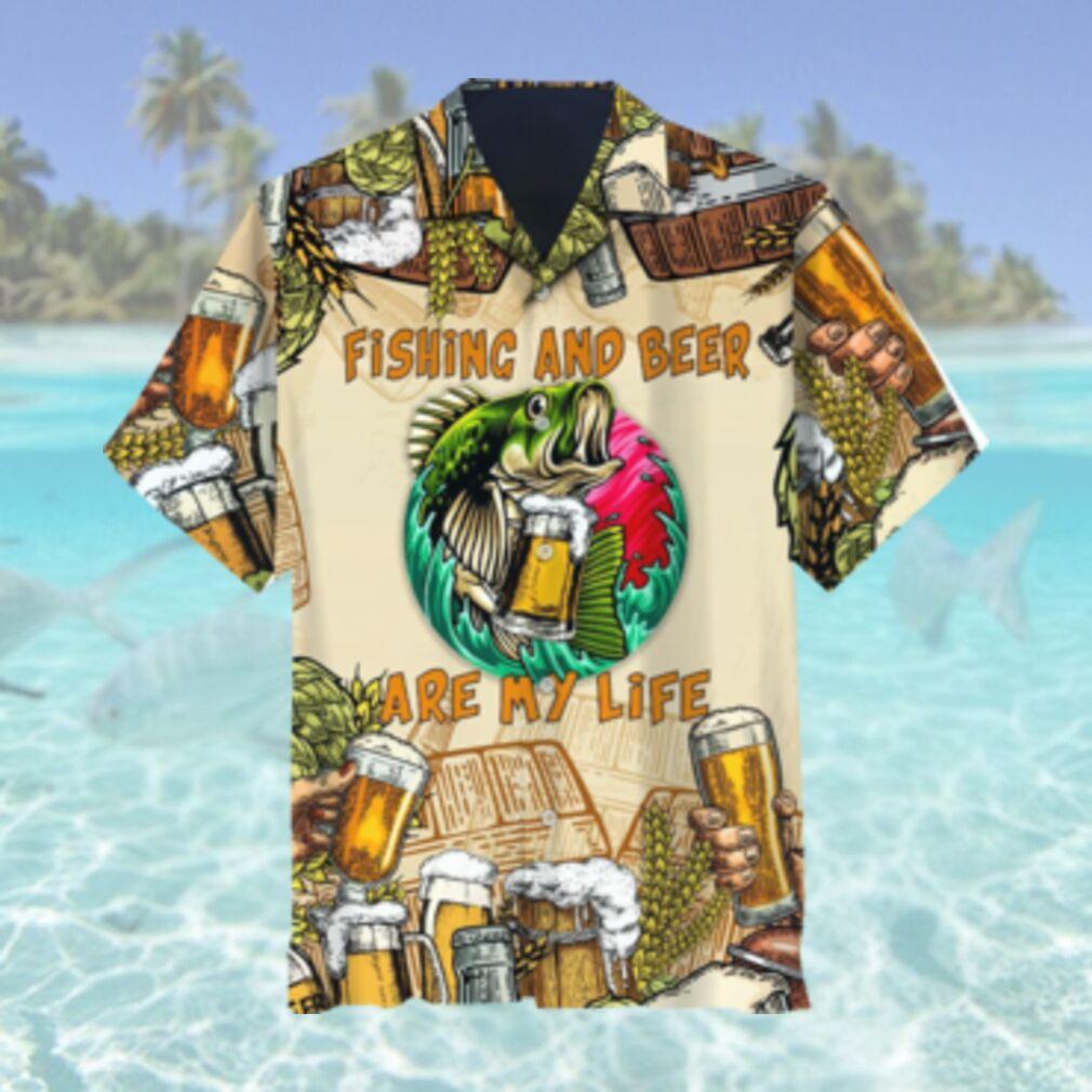 Fishing And Beer Hawaiian Shirt