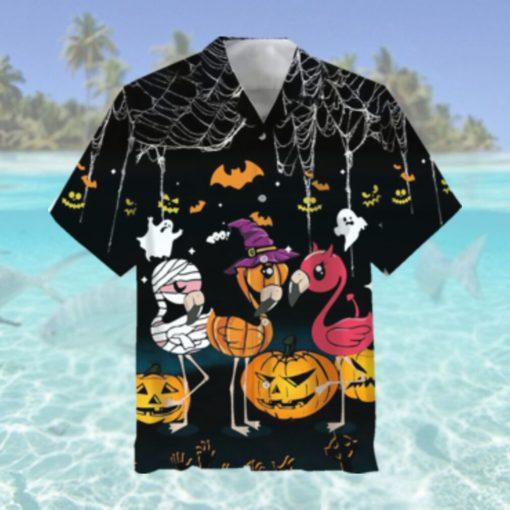 Flamingo Halloween Hawaiian Shirt