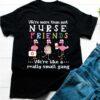 Flamingos nurse friends we're like a really small gang Covid-19 shirt 1