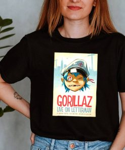 Gorilaz live on Letterman ed sullivan theatre shirtGorilaz live on Letterman ed sullivan theatre shirt