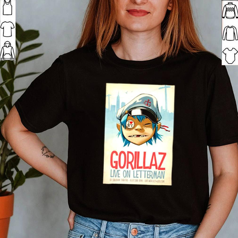 Gorilaz live on Letterman ed sullivan theatre shirt