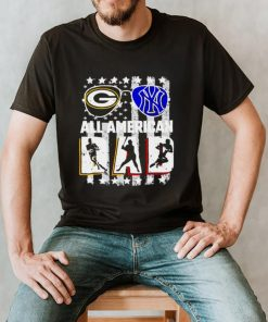 Green Bay Packer and New York Yankees all American dad shirt