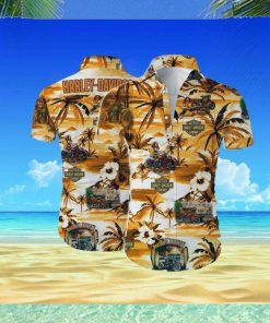 Harley Davidson Hawaii Hawaiian Shirt Fashion Tourism For Men, Women Shirt