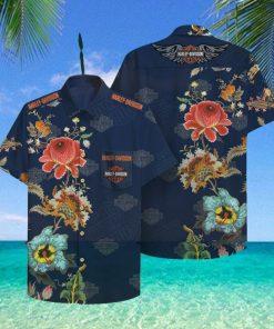 Harley Davidson Hawaii Hawaiian Shirt Fashion Tourism